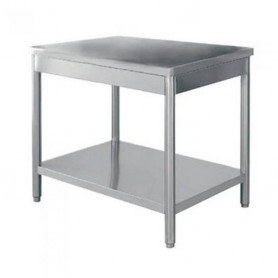 TABLE INOX CENTRALE 2000 x 600 - TC2060RE