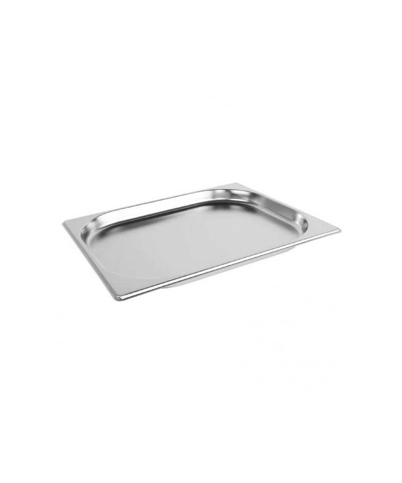 Bac inox gastronorme gn 1 2 325x265 mm prof 20 mm 1 2 l for Bacs inox restauration