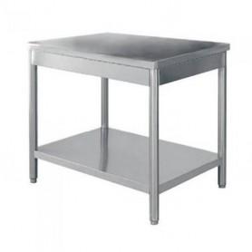 TABLE INOX CENTRALE 1400 x 700 - TC1470RE