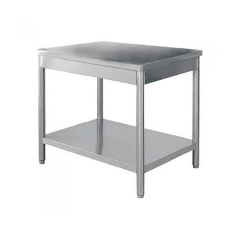 TABLE INOX CENTRALE 1200 x 700 - TC1270RE