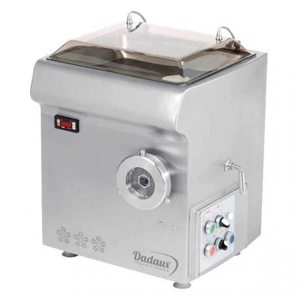 Hachoir réfrigéré Zircon-R de Dadaux tout inox avec reconstituteur