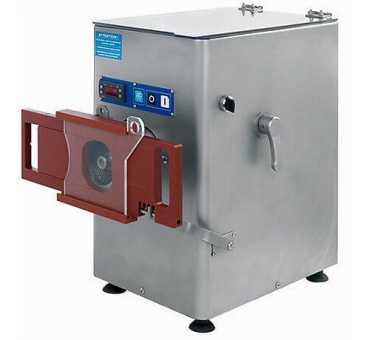 DELCOUPE - Hachoir à viande réfrigéré avec portionneur 300 kg/h - Double coupe