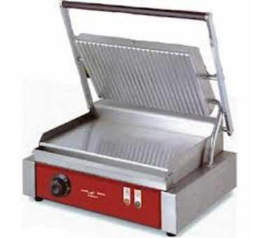 ELECTROBROCHE - Grill panini plaque chromée lisse / rainurée - PGC400CO