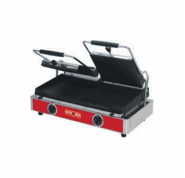 ELECTROBROCHE - Grill panini double professionnel plaques rainurées - EG1002RS