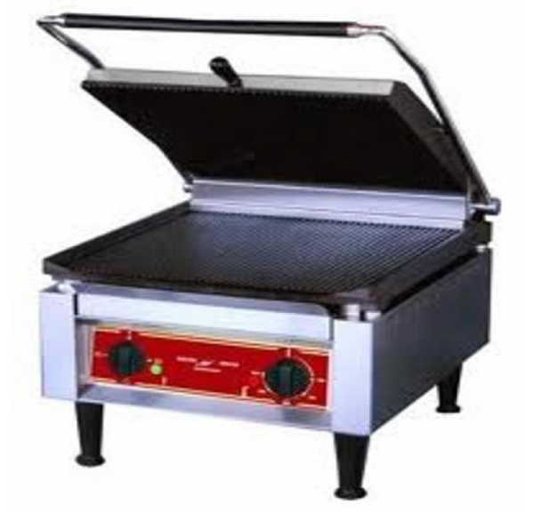 ELECTROBROCHE - Panini grill simple plaque supérieure et inférieure rainurée PG1000RO