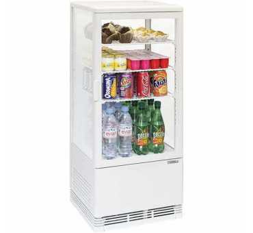 CASSELIN - Mini vitrine réfrigérée positive 78L Blanche - CVR78LB