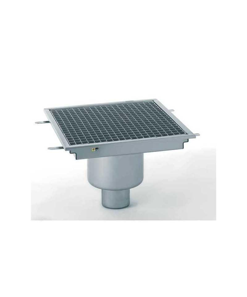 caniveau de sol inox 250x250 sortie verticale monobloc tournus negoce chr. Black Bedroom Furniture Sets. Home Design Ideas