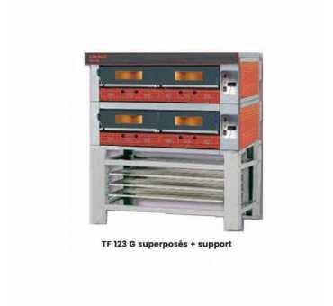 Four à pizza à gaz professionnel pour 12 pizzas TORNATI FORNI - TF 123 G