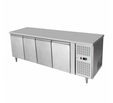 COMEBA - Desserte réfrigérée 510L 4 portes table snack 600 - EPF3441