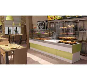 Vitrine Réfrigérée 0/+2°C avec Groupe Logé pour Pâtisseries/ Sandwich
