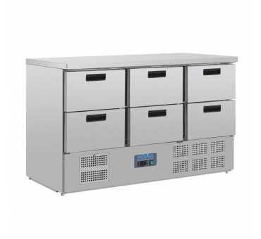 POLAR - Table réfrigérée 6 itroirs GN 1/1 - CR711