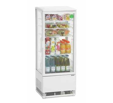 Mini vitrine réfrigérée blanche 98 L Bartscher / Froid ventilé 700298G