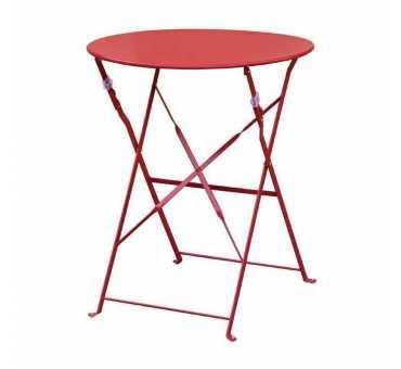 BOLERO - Table de terrasse en acier rouge - GH560