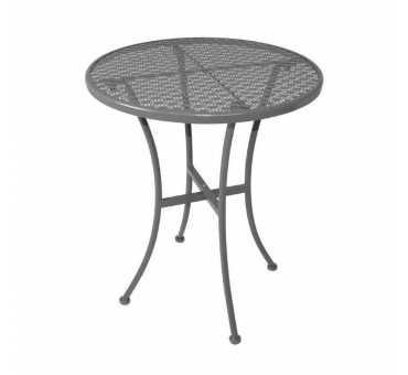 BOLERO - Table bistro ronde en acier ajouré grise 600mm - GG703
