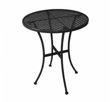 BOLERO - Table bistro ronde en acier ajouré noire 600mm - GG705