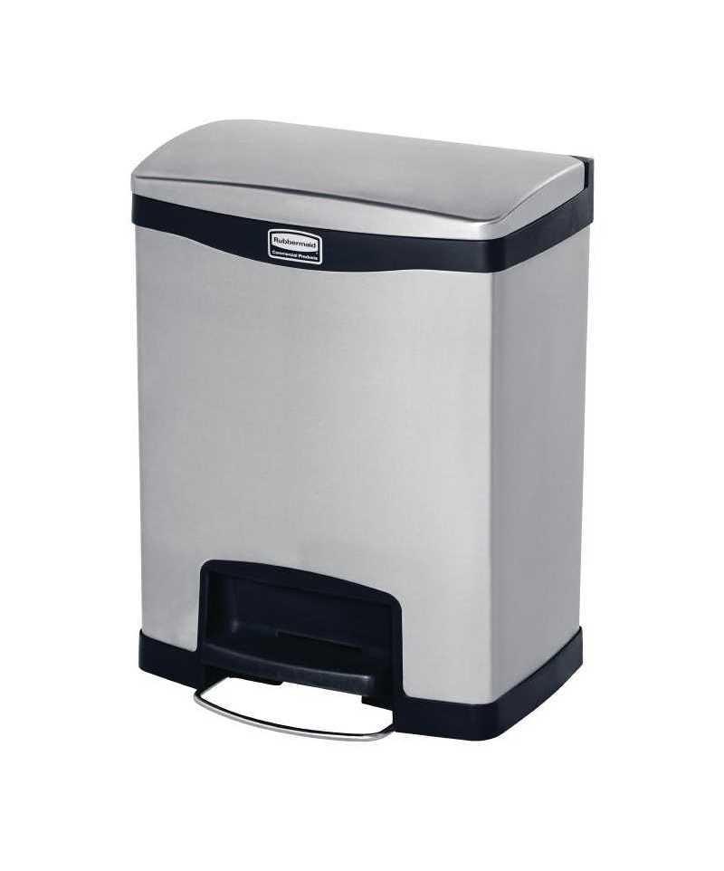 rubbermaid poubelle p dale frontale inox slim jim 30l. Black Bedroom Furniture Sets. Home Design Ideas