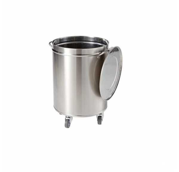 SOFINOR - Poubelle inox 50 litres cylindrique ouverture manuelle - CPB05R