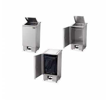 SOFINOR - Poubelle Hi-Clean snack 60 litres avec porte et capot à vérin - CPB60V