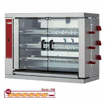 DIAMOND - Rôtissoire gaz à poser 18 poulets - RVG/3-CM