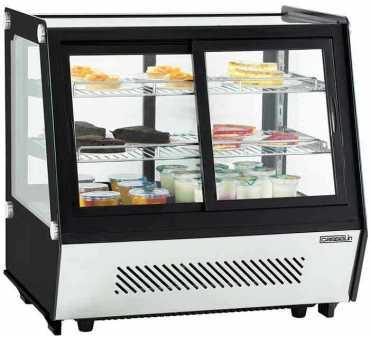 CASSELIN - Vitrine réfrigérée à poser double portes 125 litres CVR125L