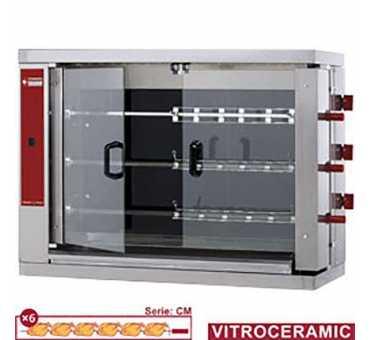 Rôtissoire à poulets électrique Diamond 18 poulets RVE/3C-CM