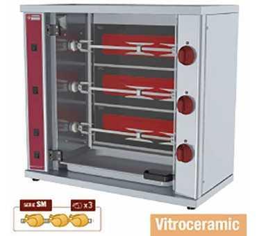 Rôtissoire électrique compacte 9 poulets - Diamond RVE/3C-SMA
