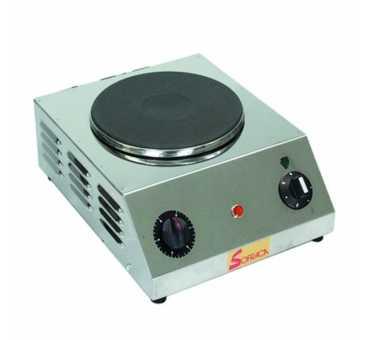 Réchaud électrique professionnel Sofraca 1 plaque ronde de 22 cm de diamètre