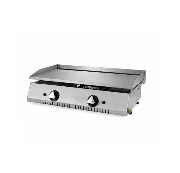 Plaque à snacker gaz professionnelle acier rectifié 15 mm / 830 mm de long - PLC80RT