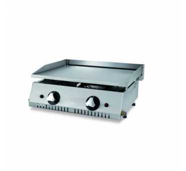 Plaque à snacker gaz professionnelle acier rectifié 15 mm / 630 mm de long - PLC60RT