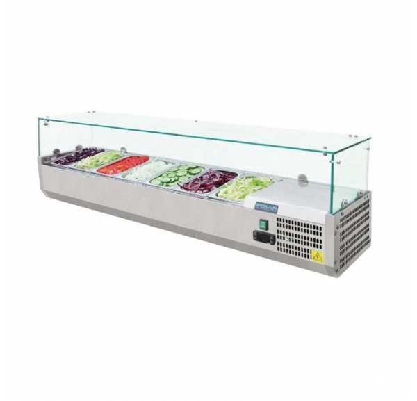 Saladette Réfrigérée à Poser Vitrée 6 x GN 1/4 - VR4140RW