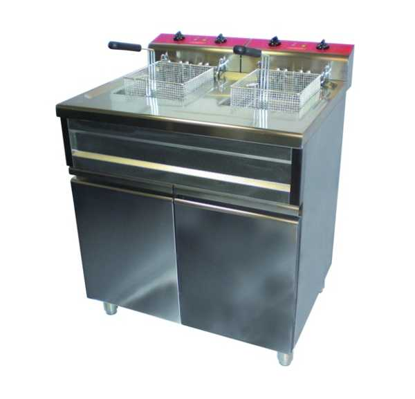 Friteuse Electrique Sur Coffre 2 x 9 litres avec Vidange - FRC029AC