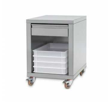 CUPPONE - Support inox avec 4 roulettes - SPZF