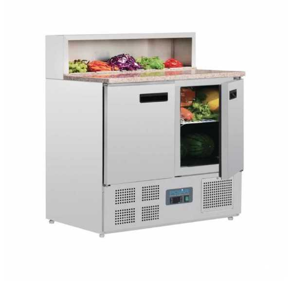 POLAR - Comptoir de préparation pizza/salade 2 portes - G603