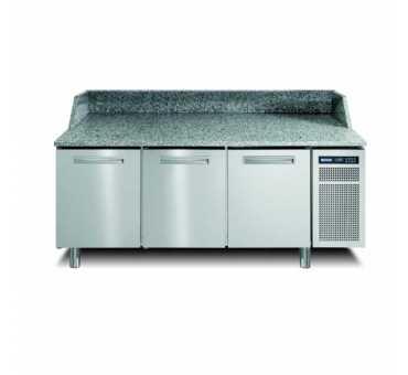 AFINOX - Meuble à pizza réfrigéré positif ventilé +2/+7°C 3 portes - PZSPR+830I