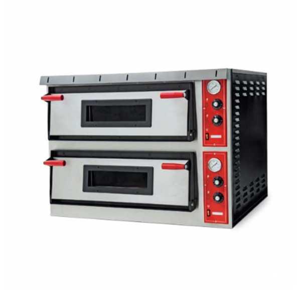 EUROFRED - Four à pizza électrique Napoli 2 chambres Ø350 mm - XL+