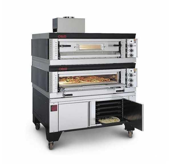 OEM - Four à pizzas gaz SG Modulaire 2 chambres 9+9xØ300 mm - SG99/2