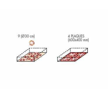 MORETTI FORNI - Four à pizza électrique SERIEP 1 chambre Ø450 mm - P80E1C