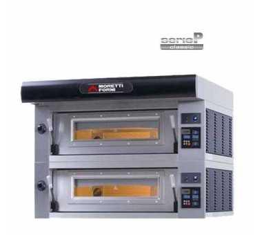 Capacité pizzas et plaques - Four à pizza électrique SERIEP 2 chambres Ø 35 - Ø 45 - P80E2-C