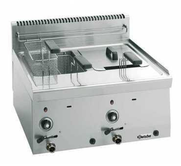 Friteuse gaz professionnelle 2 cuves x 8 litres - 1315213
