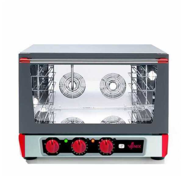 VENIX - Four pâtissier avec grill et humidificateur 4 niveaux 600 x 400 - Torcello T04MPG