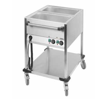 Casselin - Chariot Bain-Marie 2 cuves version verticale CCBM2V