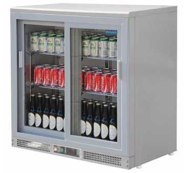 Arrière-bar gris métal 180 bouteilles (portes coulissantes) Polar Série G - CC601