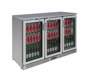 POLAR - Arrière-bar 3 portes pivotantes acier inoxydable