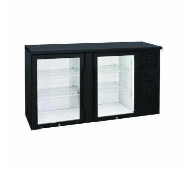 NOSEM - Arrière-bar skinplate série contemporaine intérieur inox 2 portes vitrées groupe logé