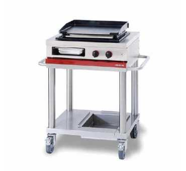 Plancha Gaz Professionnelle sur Chariot Ambassade - Mobile de cuisson CTG720PL