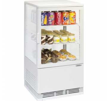 CASSELIN - Mini vitrine réfrigérée positive 58L blanche