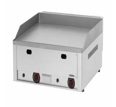 CASSELIN - Plancha gaz fonte d'acier inoxydable lisse à poser 660 mm