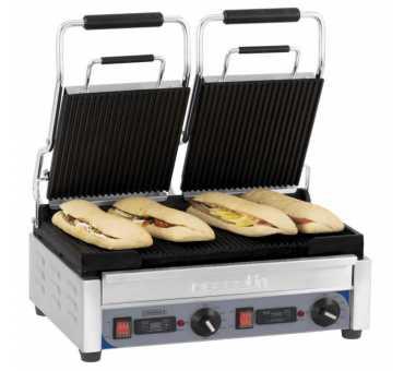 CASSELIN - Grill panini double premium rainurée - rainurée avec minuteur
