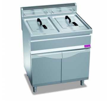 FURNOTEL - Friteuse sur coffre gaz 2 x 20 litres