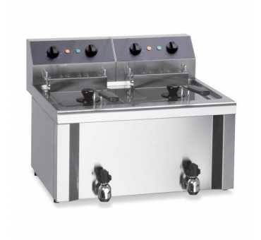 FURNOTEL - Friteuse de table électrique 2x9 litres triphasée